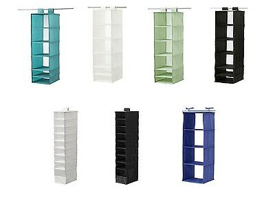 IKEA Skubb Clothes Hanging Wardrobe Organiser Black , White , Pink 3 styles