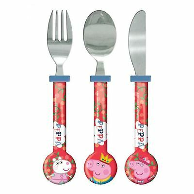 Peppa Pig Cutlery 3 Pcs Dinner Mealtime Spoon Fork Knife Once Upon A Time