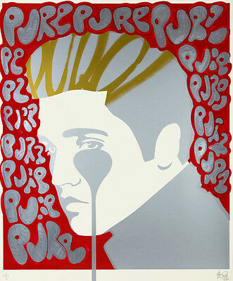 PURE EVIL - Pure Elvis Presley - Hand finished 1/1 | Urban, Street art, graffiti