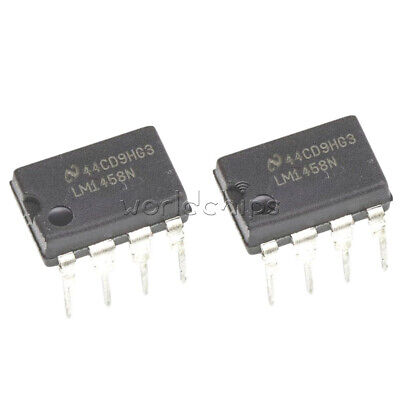 10Pcs Lm1458N Lm1458 1458 Ic Dual Operational Amplifier