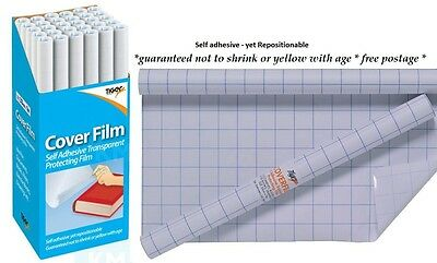 Book Cover Film Roll High Quality Clear Plastic Sticky Back Self Adhesive Grid