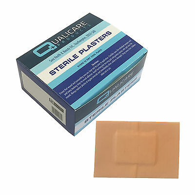 Qualicare Sterile Hypo-Allergenic Washproof Large 7.2cmx5.0cm Plasters 50 Pack