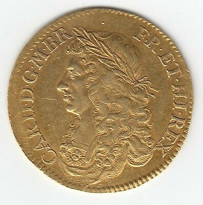 Very Rare 1662 Charles II Gold Broad of 20 Shillings