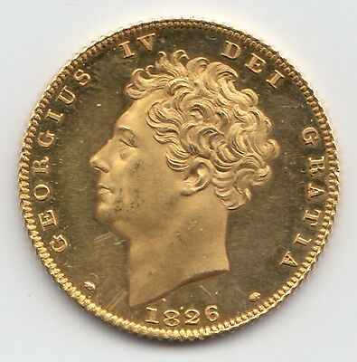 Very Rare 1826 George IV PROOF Gold Half Sovereign