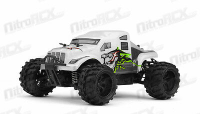 MicroX Racing 1/24 Micro RC Monster Truck Electric RTR Ready to Run 2.4Ghz WHITE