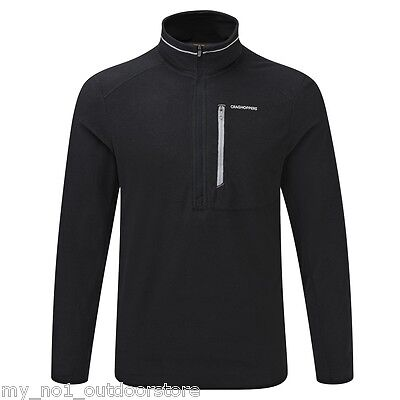 Craghoppers Men's Pro Lite Half Zip Lightweight Fleece Top  - Black