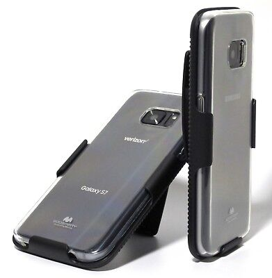 Clear Slim Case + BELT CLIP HOLSTER for Samsung Galaxy S7 S7 edge S8 S8+ S9 S9+
