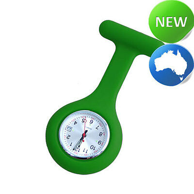 Nurse Silicone FOB Watch with Date Function - Green