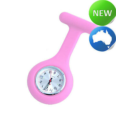 Nurse Silicone FOB Watch with Date Function - Pink