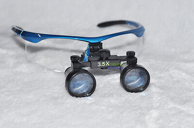 """New Blue Ultra-light High Quality Surgical Dental Medical 3.5X Loupes 19"""" 500mm"""