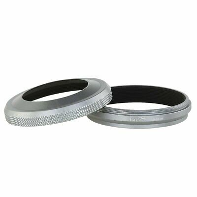 Haoge LH-X49W Lens Hood with Adapter Ring for Fuji Fujifilm X70 Camera
