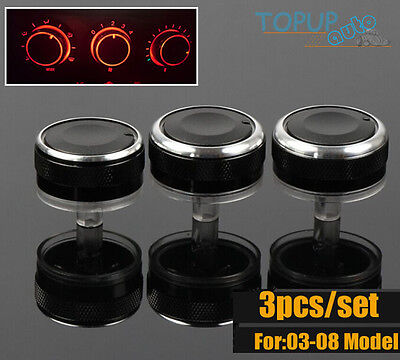 Fit For 03~08 Mazda 6 Heater Knobs Dials A/c Switch Buttons Control Heat Panel