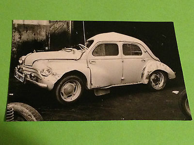 Viintage Photo - Renault 4 Cv Crash Barcelona Spain - Foto Antigua Accidente