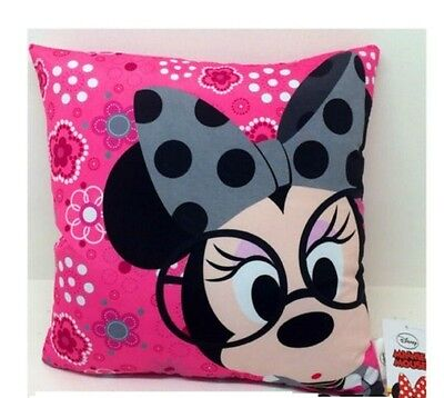 Pink Minnie Mouse Cushion ~ Disney ~ Children' S Bedroom  Accessory