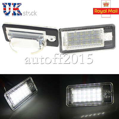 2x 18 LED License Number Plate Light Lamp For Audi A3 S3 A4 S4 B6 B7 A6 S6 A8 Q7