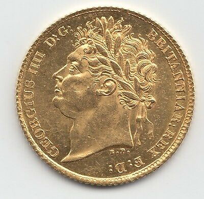 1824 George IV Gold Half Sovereign