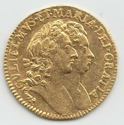 Very Rare 1694 William & Mary Gold Half Guinea