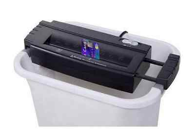 Amazin Small 6-Sheet Strightcut Paper Credit Card Shredder Easy Use Office Waste