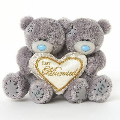 "Me to You Two 4"" Just Married Wedding Soft Plush - Tatty Teddy Bear"