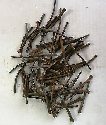 "50 lb.s of Reclaimed Antique Steel Cut Nails 2.5"" to 3"" long"