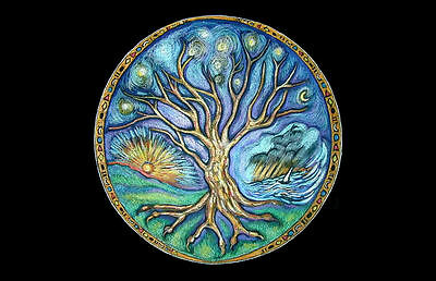 Framed Print - Wiccan Tree of Life (Picture Wicca Magic Witch Occult Spell Art)