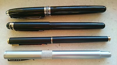 Vintage Set of 4 Fountain Pens Unbranded