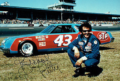 KING Richard PETTY SIGNED NASCAR Cup Winner 12x8 Photo AFTAL Autograph COA