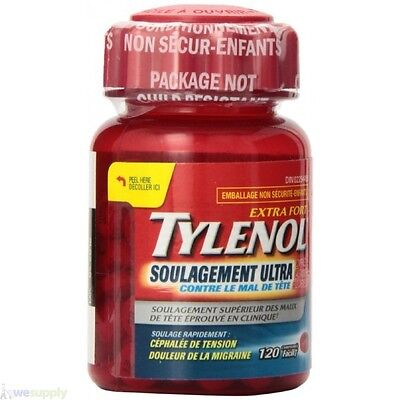 Tylenol Extra Strength 120 Tablets Ultra Relief