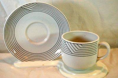 Royal Mosa Blue Lines Coffee Cup And Saucer Set
