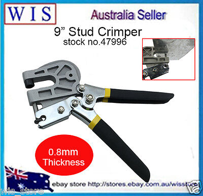 Single Hand Keel Stud Crimper Forceps Metal Punch Lock Drywall Hand Tool-47996