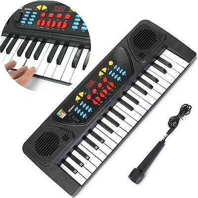Kids Children 37 Key Electronic Keyboard Piano Musical Toy Record Microphone Mic