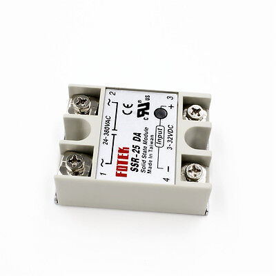SSR25DA DC-AC 24V-380V 25A Solid State Relay for Heated Bed Heater
