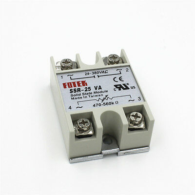 SSR-25VA AC Output 24-380V 25A Solid State Relay for PID Temperature Controller