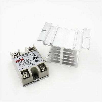24V-380V 40A SSR-40DA Solid State Relay Module with 10-40A  Aluminum Heat Sink