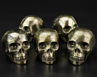 2 Inch Natural Pyrite Crystal Skull For Crystal healing Home Deocor Gift 1 piece