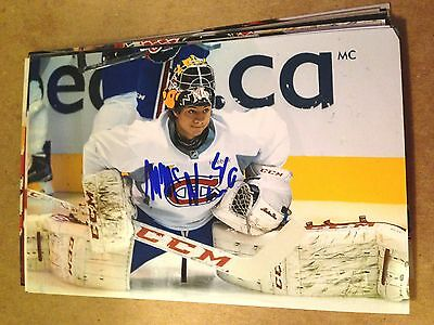 Michael McNiven SIGNED 4x6 photo MONTREAL CANADIENS