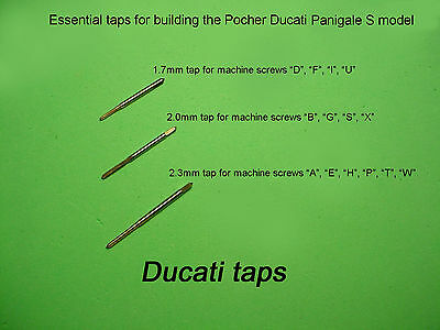 3 ESSENTIAL TAPS for building the Pocher Ducati Panigale S model 1.7mm/2mm/2.3mm