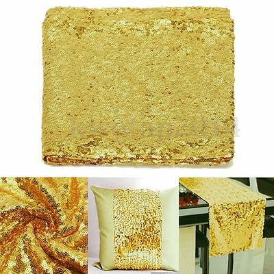 14''*108'' Sparkly Light Gold Sequin Table Runner For Party Wedding Decoration