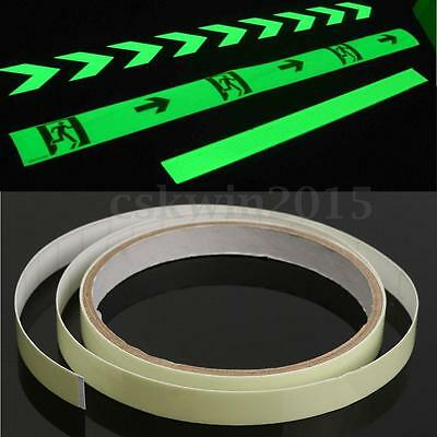 10mm x 1m Glow In The Dark Tape Safety Stage Self-adhesive Egress Safety Mark