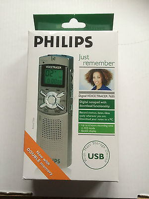 Philips 7655 Digital Voice Tracer LFH7655 - Boxed with Accessories