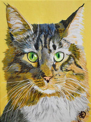 Custom pet portrait Original oil painting on canvas of YOUR dog, cat, or any pet