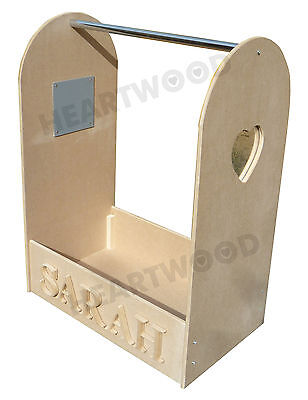 DRESSING UP STAND 700mm HIGH/HEART MIRROR/6 FREE LETTERS/HANGING RAIL/BOYS/GIRLS