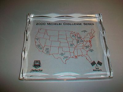 Glass Paperweight Advertising 2000 Michelin Challenge Series Viper Days