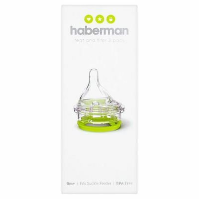 Haberman Teat and Filter 3 Pack 0+m