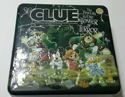 Disney World Parks Twilight Zone Tower of Terror Clue Board Game Tin NEW