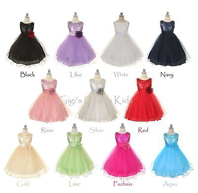 New Flower Girl Dress Pageant Wedding Formal Bridesmaid Easter Birthday Party