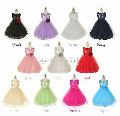 New Flower Girls Dress Pageant Wedding Formal Bridesmaid Easter Birthday Party