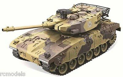 radio remote controlled RC tank Merkava shooting Sounding Barrel Recoil 1/20