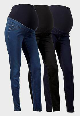Maternity New Look (ex) Jeggings Jeans Over The Bump Navy Size 10 12 (79/6)