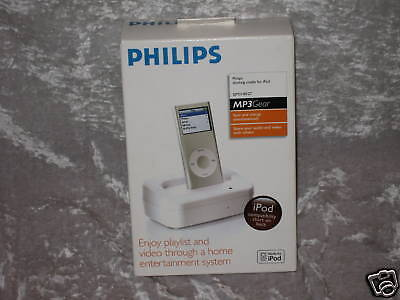 Philips Docking Cradle for iPod MP3 Gear Charge NEW!